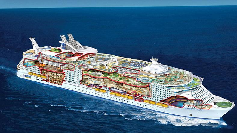 A hajón mindenféle luxus megtalálható