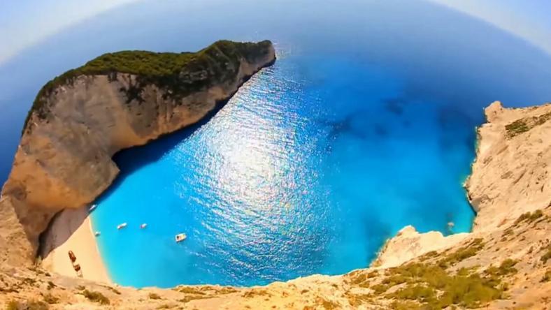 A képen a görögországi Zakynthos szigete. /Fotó: YouTube