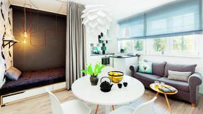 Jak wydzielić wygodną sypialnię w 27-metrowym mieszkaniu? Zobaczcie lokum Arletty - świetny patent
