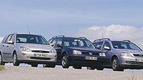 Opel Astra II kontra Ford Focus I i VW Golf IV - porównanie używanych kombi z dieslem