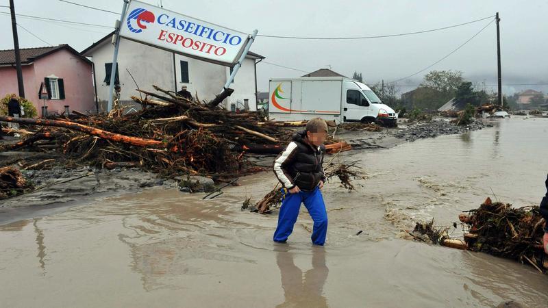 Powódź we Włoszech, fot. PAP/EPA