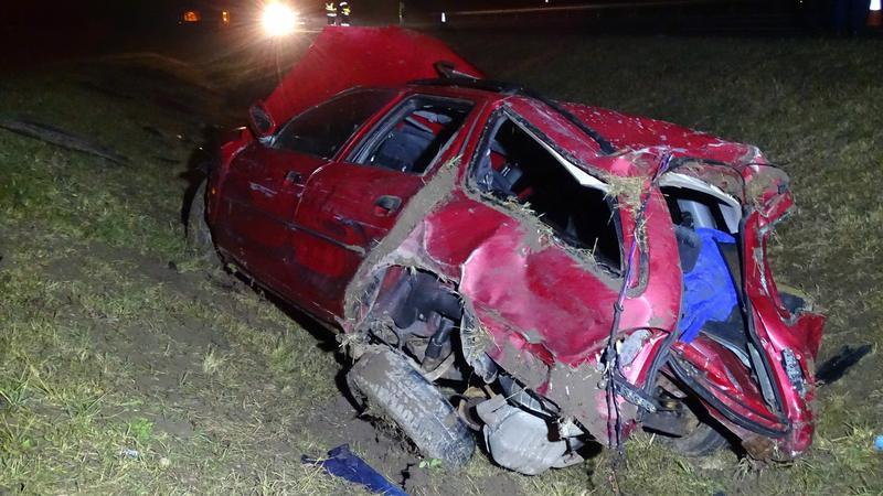 Menekülő embercsempész balesete - MTI Donka Ferenc