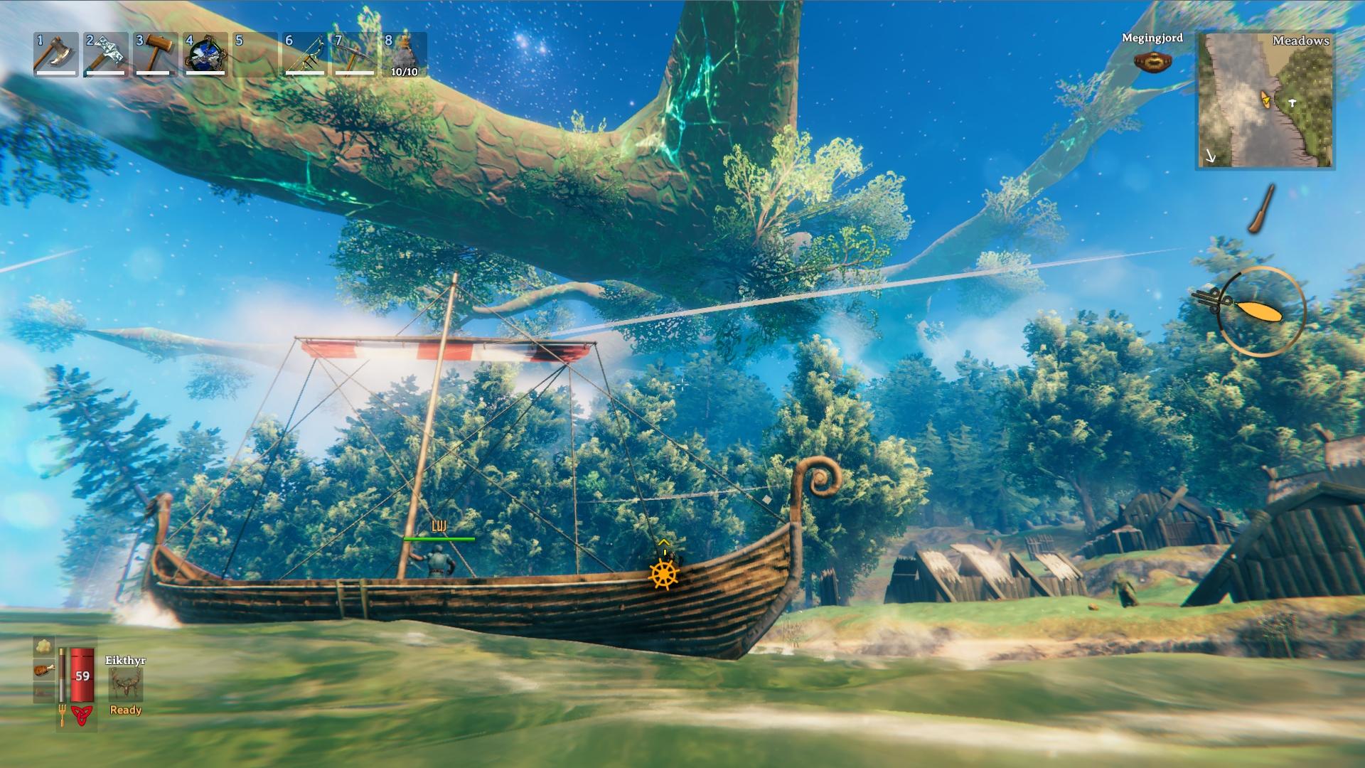 Každý správny Viking sa musí vedieť plaviť za nájazdmi na okolité ostrovy.
