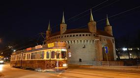 Nietypowy tramwaj na ulicach Krakowa