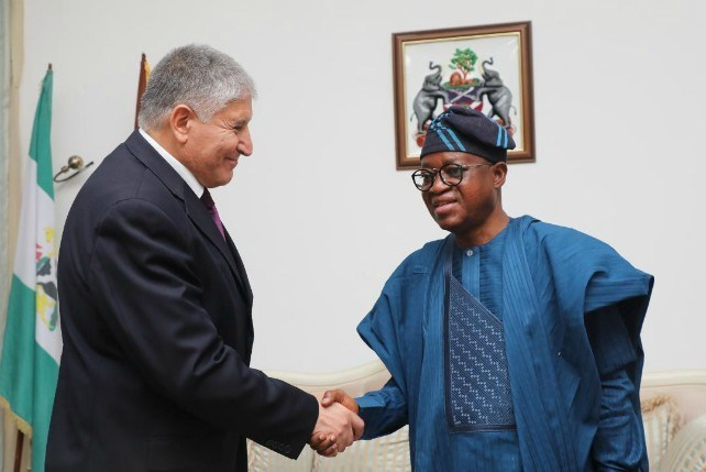 Israeli Ambassador to Nigeria, Mr Shimon Ben-Shoshan and Governor Gboyega Oyetola of Osun state [PM Parrot]
