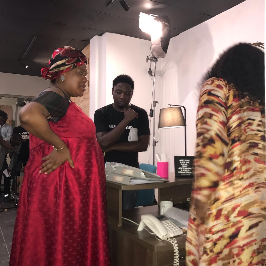 Niyi Akinmolayan tasks Toyin Abraham with a new role in 'Elevator Baby' [Instagram/Niyi Akinmolayan]