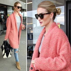 Best Look: Rosie Huntington-Whiteley w płaszczu Isabel Marant
