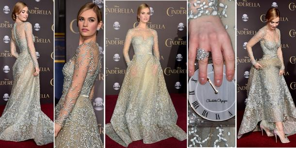 Best Look: Lily James w sukni Elie Saab