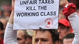 Manifestacja w Brukseli przeciw unikającym podatków bogaczom