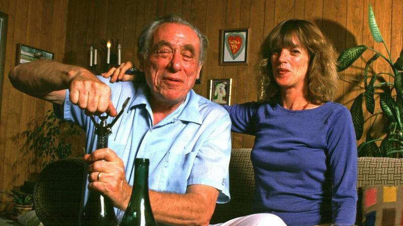 Charles Bukowski z żoną Lindą