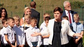 Premier Beata Szydło na inauguracji roku szkolnego w szkole w Pcimiu