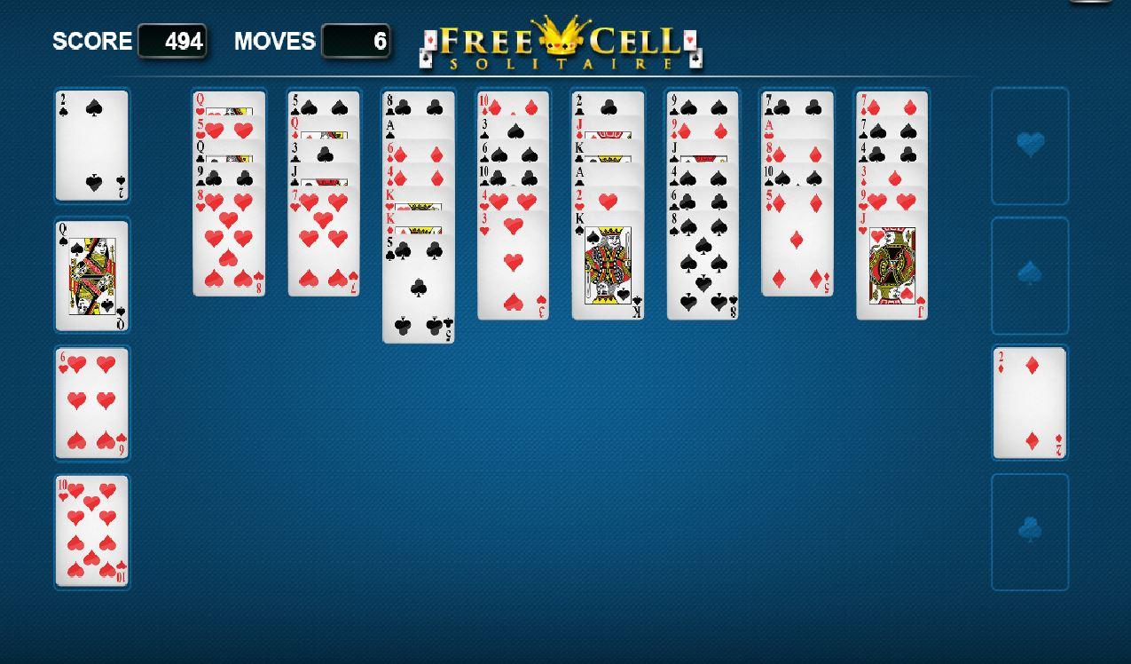 Pasjans Freecell - zasady gry