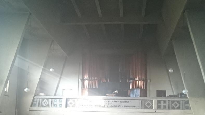 Az orgona is tönkrement a tűzben