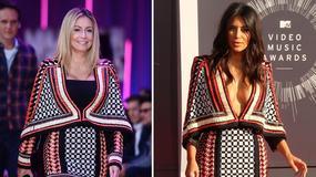 Kim Kardashian i Małgorzata Rozenek w takiej samej sukience. Która wygląda lepiej?