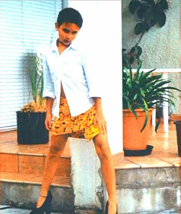 A pici Conchita már akkor is imádott pózolni - magassarkúban /Fotó: Profimedia-RedDot