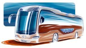Hybrydowy autobus Mercedesa