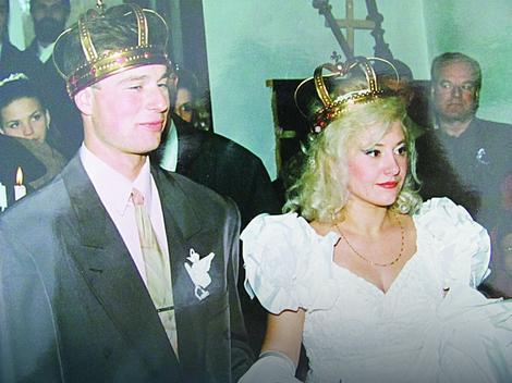 Dejan i Ljiljana na dan svog venčanja