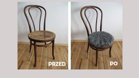 Szybki tani sposób na odnowienie starego krzesła - świetny efekt!