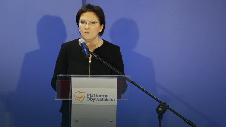 """Premier Ewa Kopacz obiektem największego """"hejtu"""", fot.  PAP/ Michał Walczak"""