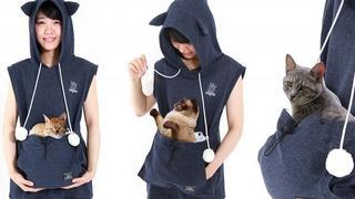 Bluza z kieszenią na kota