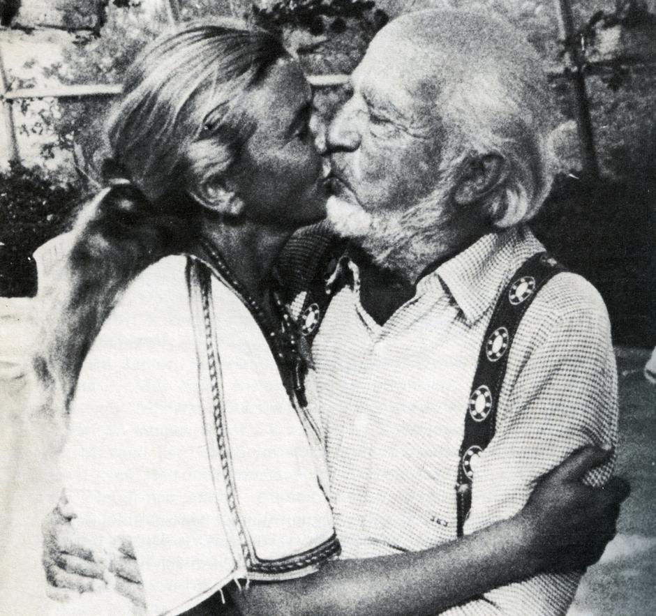 Barbara Piasecka i Seward Johnson, lata 70./fot. Laski Diffusion
