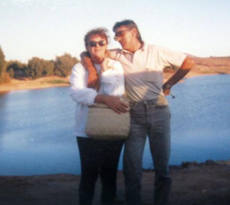 Jovica Stepić sa suprugom koja je preminula pre nekoliko godina