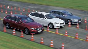 Mercedes klasy E kombi kontra BMW serii 5 Touring i Audi A6 Avant: Transportery prestiżu i stylu życia