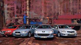 Peugeot 407 kontra Toyota Avensis VW Passat i Volvo S60: porównanie sedanów z silnikiem Diesla