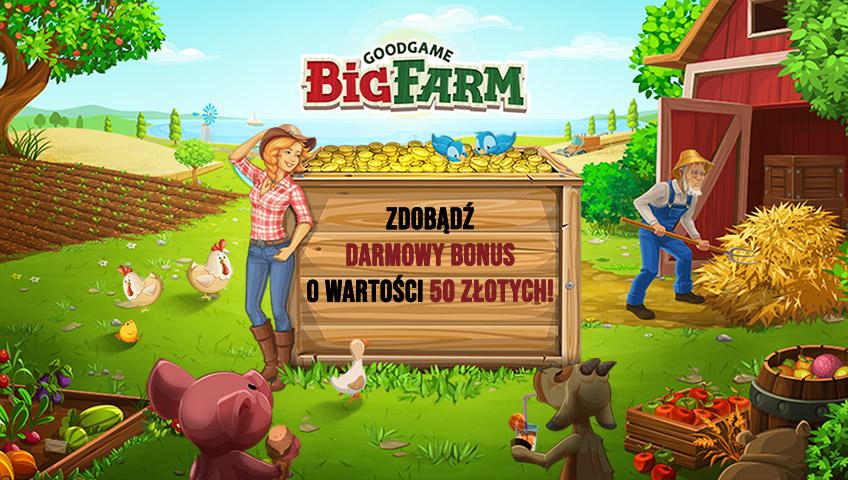 Big Farm: Darmowy Bonus powitalny dla wszystkich graczy