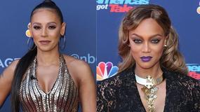 """Mel B i Tyra Banks promują amerykański """"Mam talent"""". Która wyglądała lepiej?"""
