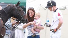 Wlk. Brytania: Książę George kibicował ojcu na meczu polo