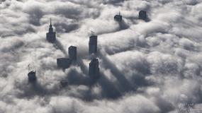Warszawa skąpana we mgle