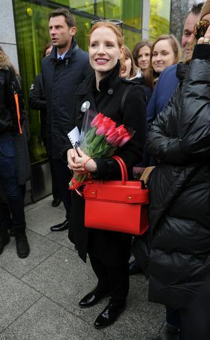 """Jessica Chastain wzięła udział w manifestacji Polska jest kobietą"""""""