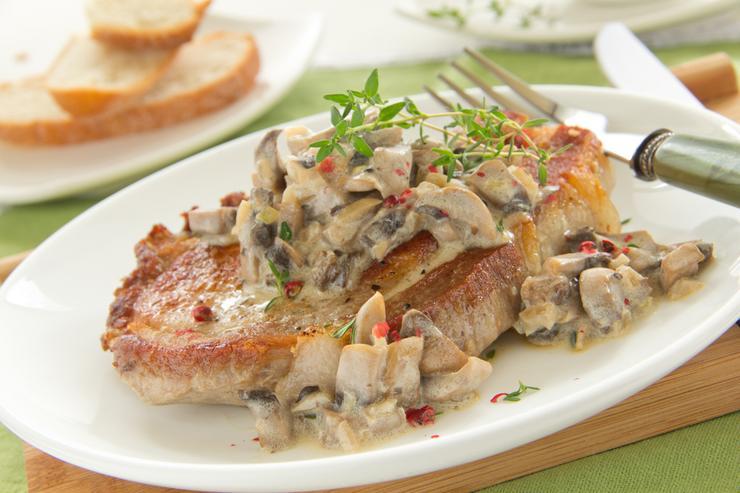 свинина с белыми грибами рецепт с фото