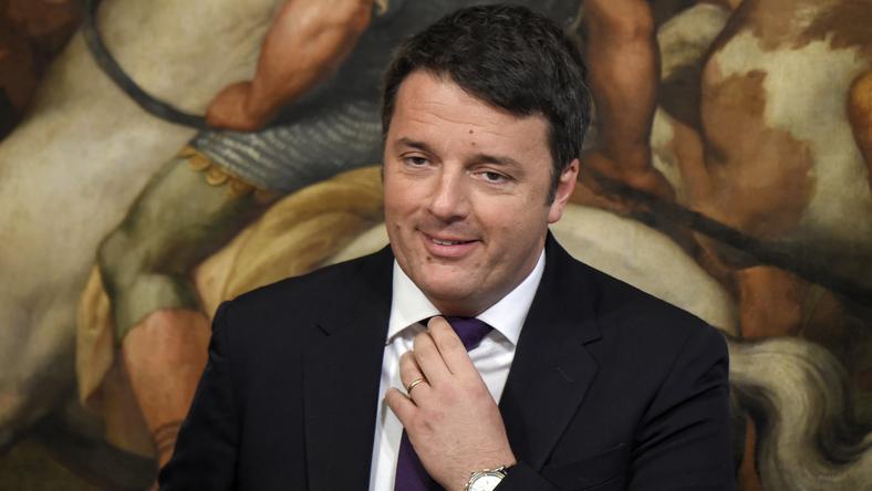 Matteo Renzi nagyon magabiztos /Fotó: AFP