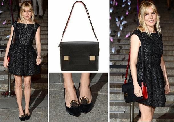 Best Look: Sienna Miller w sukience Topshop