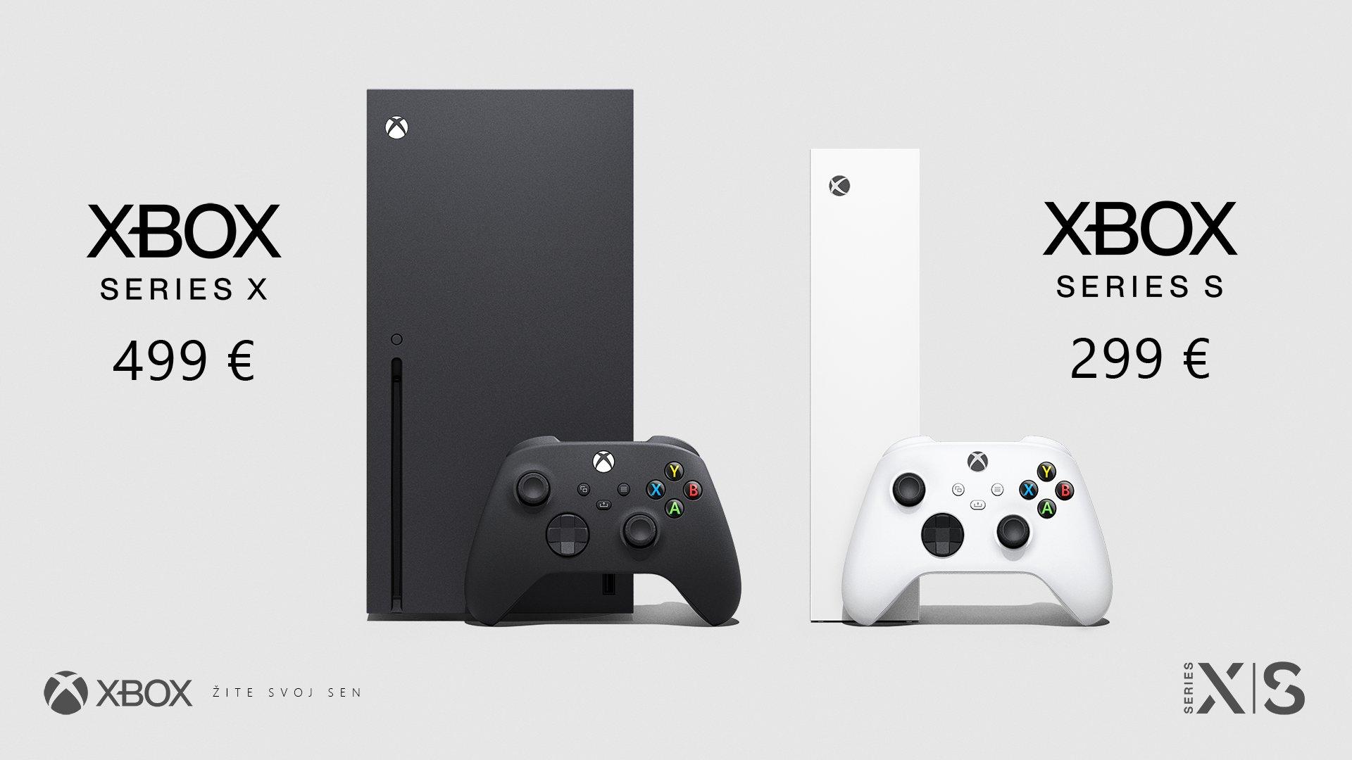 Xbox Series X sa bude predávať za 499 eur, za Xbox Series S zaplatíš o dve stovky menej.
