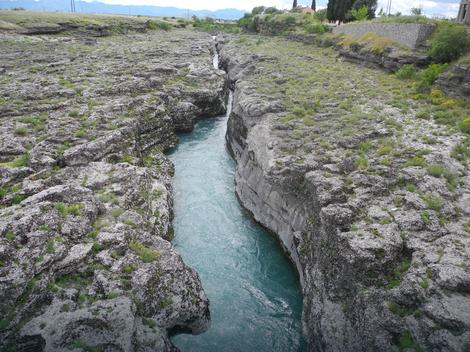 Deo Cijevne gde su mladić i devojka skočili u reku