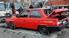 Skoda Favorit sedan odnaleziona po bombardowaniu w Syrii