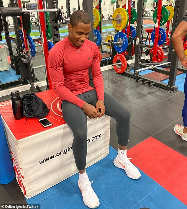 Odion Ighalo has been training on his own since he joined Manchester United (Twitter/Odion Ighao)