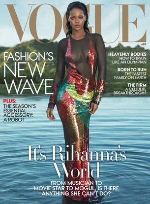 """Rihanna na dwóch kwietniowych okładkach magazynu Vogue"""""""