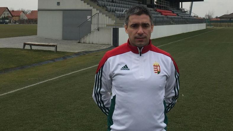 Oscar Corrochano a Bayerntől érkezett az MLSZ-be / Fotó: mlsz.hu