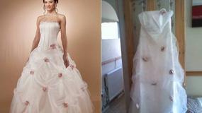 Suknia ślubna z internetu? To nie był dobry pomysł...