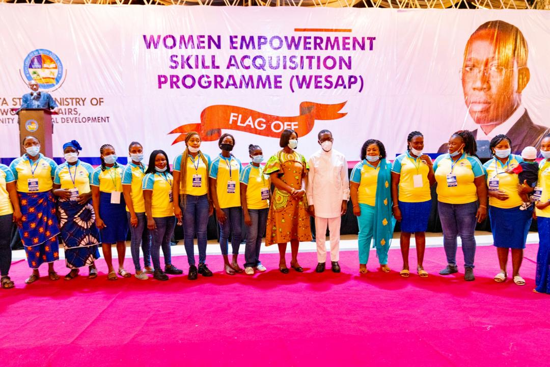 Okowa attends the inauguration of the Women Empowerment and Skills Acquisition Programme (WESAP) in Asaba on Monday, November 16, 2020 (Delta press corps)