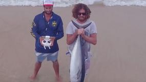Łowienie ryb przy pomocy drona