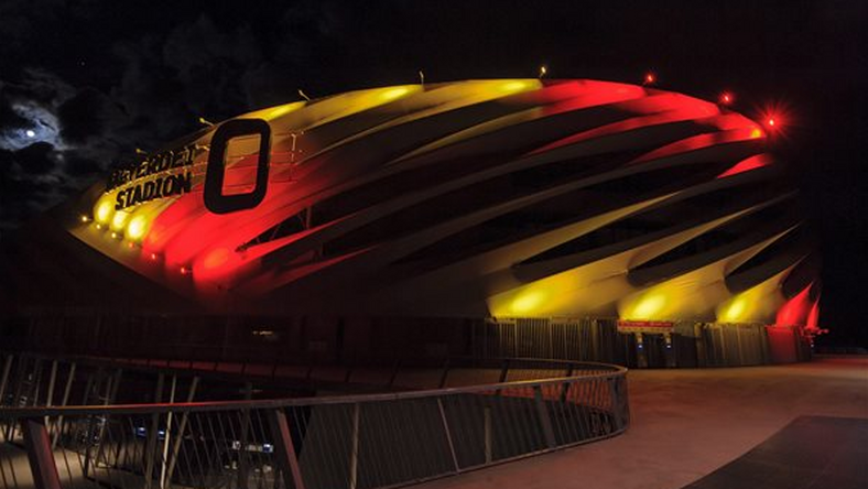 DVSC stadion belga színekben / Fotó: Facebook