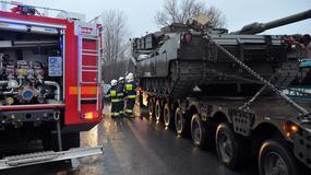 Wypadek z udziałem lawety wiozącej amerykański czołg w Mirosławcu
