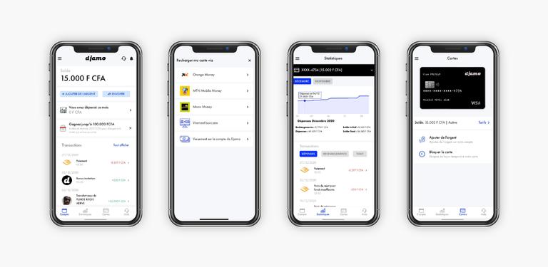 Djamo app screens presentation