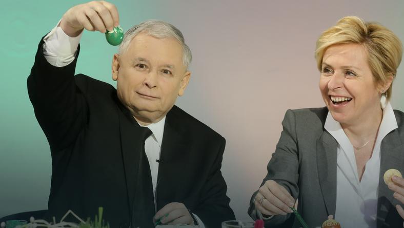 Jarosław Kaczyński maluje pisanki