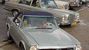 Mercedes: Płock zmienił klimat - na ulicach królowały oldtimery